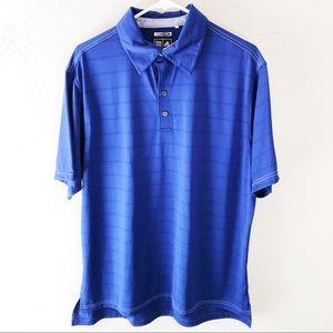 Adidas royal blue climacool golf shirt size large